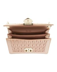 Miu Miu Pink Quilted Miu Confidential Bag