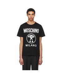 Moschino - Black Logo T-shirt for Men - Lyst