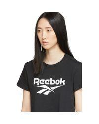 Reebok ブラック クラシックス ベクター クロップ T シャツ Black