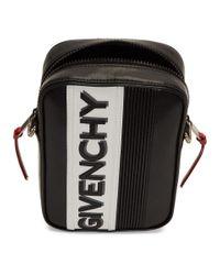 メンズ Givenchy ブラック And ホワイト Mc3 クロスボディ バッグ Black