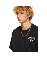 メンズ Vetements ブラック Georgia T シャツ Black