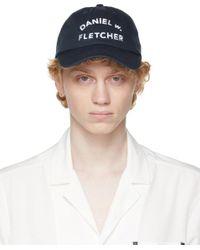メンズ Daniel W. Fletcher ネイビー College ロゴ キャップ Blue