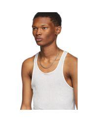 Rick Owens White Basic Rib Tank Top for men