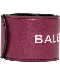 Balenciaga - Pink Cycle Logo Bracelet - Lyst