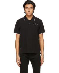 メンズ McQ Alexander McQueen ブラック Jack Branded Regular ポロシャツ Black