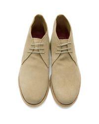 GRENSON Natural Beige Suede Oscar Desert Boots for men