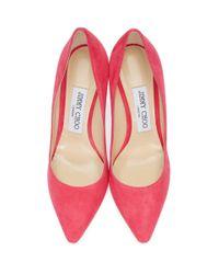 Escarpins en suede roses Romy Jimmy Choo en coloris Pink