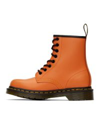 Dr. Martens オレンジ 1460 ブーツ Orange