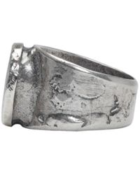 Maison Margiela | Metallic Silver Large Oval Face Ring for Men | Lyst