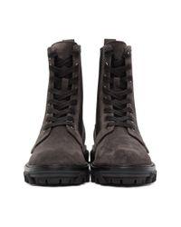 Rag & Bone Black Shiloh Boot - Suede Combat Ankle Boot