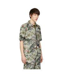 DIESEL Green Khaki S-lyna Shirt for men