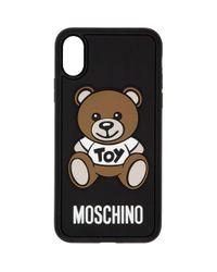 メンズ Moschino ブラック Teddy Bear Iphone X ケース Black