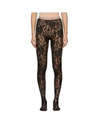 Gucci Black Lace Tights