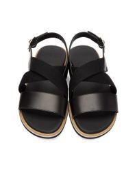 Want Les Essentiels De La Vie Black Jobim Sandals for men
