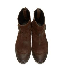 Belstaff - Brown Trialmaster Short Boots for Men - Lyst