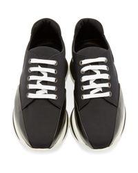 Pierre Hardy Black Neoprene Turbo Sneakers