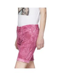Levi's Pink Denim 511 Cut-off Shorts for men