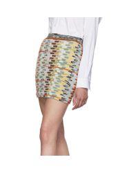 Mini-jupe multicolore Large Knit Missoni