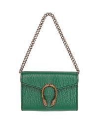 Gucci Dionysus Super Mini Crossbody Bag Green