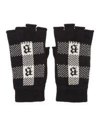 Gants sans doigts noirs Brioni pour homme en coloris Black