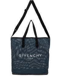 メンズ Givenchy ブルー メッシュ パッカブル バッグ Blue