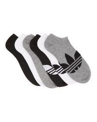 メンズ Adidas Originals マルチカラー Solid アンクル ソックス 6 足セット Black