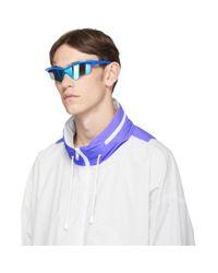 メンズ Maison Margiela Mykita Edition ブルー Mmecho005 サングラス Blue