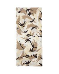 メンズ KENZO オフホワイト シルク スカーフ マスク Natural