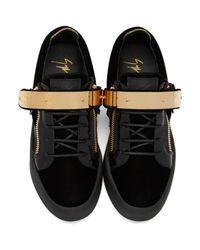 Giuseppe Zanotti Black Velvet London Sneakers for men