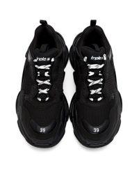 Baskets noires Triple S Balenciaga pour homme en coloris Black