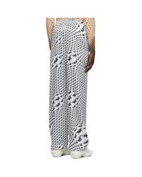 メンズ MARINE SERRE ホワイト ルース パンツ White