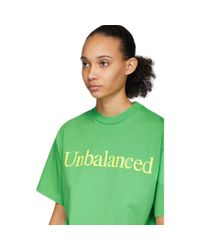 Aries New Balance Edition グリーン Unbalanced T シャツ Green