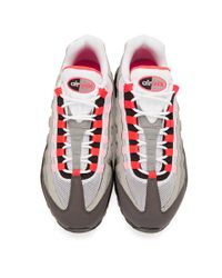 Nike White Grey And Pink Air Max 95 Og Sneakers