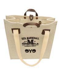 メンズ Junya Watanabe Seil Marschall Edition オフホワイト ウール ロゴ トート Natural