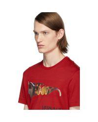 Versace Red Medusa Biggie T-shirt for men