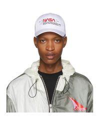 Casquette à broderie logo Nasa Heron Preston pour homme en coloris White