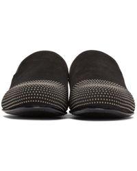 Jimmy Choo   Black Suede Studded Sloane Loafers for Men   Lyst