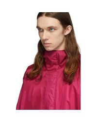 The Very Warm Pink Ripstop Hooded Jacket for men