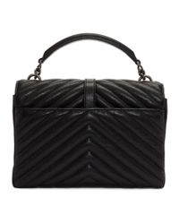 Saint Laurent Black Medium Quilted College Bag