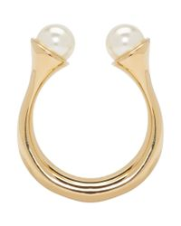 Chloé - Multicolor Gold And Pearl Round Darcey Ring - Lyst