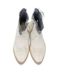 Bottines d'inspiration western Golden Goose Deluxe Brand en coloris White