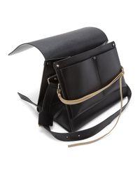 Jil Sander Black Military Messenger Bag for men