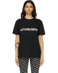 Alexander Wang ブラック Calligraphy ロゴ T シャツ Black