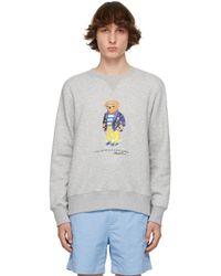 メンズ Polo Ralph Lauren グレー Polo Bear スウェットシャツ Gray
