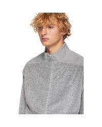 Blouson de survetement en velours gris Opening Ceremony pour homme en coloris Gray