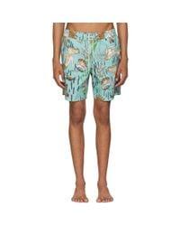 Loewe Blue Paulas Ibiza Edition Mermaid Swim Shorts for men