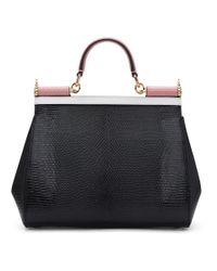Dolce & Gabbana - White And Black Medium Miss Sicily Bag - Lyst