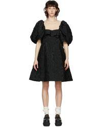 Simone Rocha ブラック フローラル ビスチェ ドレス Black