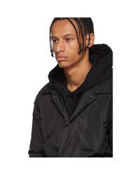 Yves Salomon Black Technical Fur-lined Coat for men