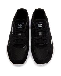 Adidas Originals ブラック And シルバー ファルコン スニーカー Black